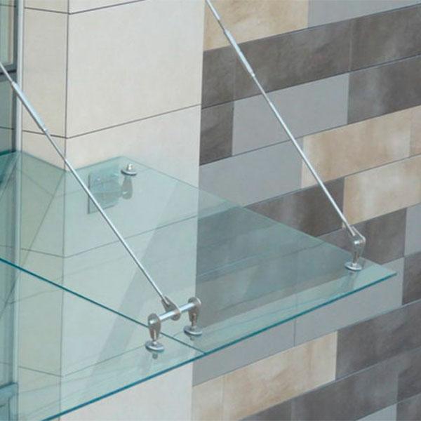 Навесы и крыши из триплекс стекла